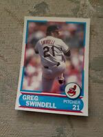 Greg Swindell Cleveland Indians Young Superstar 1988 Score Card Ungraded*