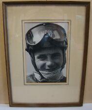 Werner Haas / NSU Motorrad grosses Foto mit Widmung & Autogramm