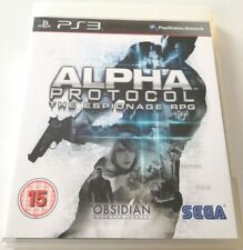 ALPHA PROTOCOL THE ESPIONAGE RPG GIOCO PS3 PLAYSTATION 3 ITALIANO COME NUOVO