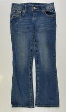 Women's MAURICES Distressed Original Jeans cropped Capri pants Size 3/4, 30/27