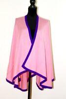 Pink Ladies Cashmere Poncho Wrap Cape Blanket Large Scarf Shawl Pashmina