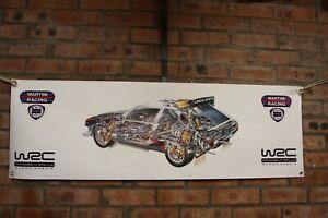 Lancia Delta S4 WRC Martini large pvc show banner work shop garage shed