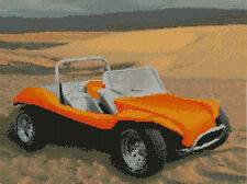 "Beach Buggy Orange Counted Cross Stitch Kit 14"" x 10.5"""