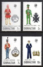 Gibraltar - 1972 Militairy uniforms (IV) Mi. 289-92 MNH