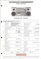Nordmende Original Service Manual für  HiFi System 910
