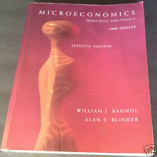MICROECONOMICS PRINCIPLES AND POLICY 1998 Update 7th Edition William J. Baumol