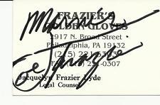 BOXING/JOE FRAZIER SIGNED BUSINESS CARD PROOF! IN PERSON COA SMOKIN JOE FRAZIER