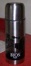 BIOS H2O Stainless Steel VACUUM FLASK THERMOS - BPA Free - Sound Scape - 12 oz