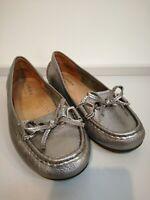 CARVELA Comfort silver leather moccasins size 38/ UK5