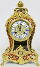Antique 19thC French 8 Day Striking Red Shell & Inlaid Boulle Mantle Clock