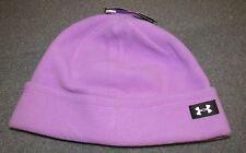 NWT Under Armour ColdGear Women's OSFM Infrared Storm 1 Fleece Beanie Hat Lilac