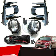 For Toyota Sienna 2018-20 LED OEM Fog Light Lamp+Light Cover+Cable+Switch Kit j