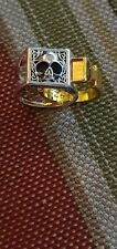 Mens secret compartment ring. Size 10