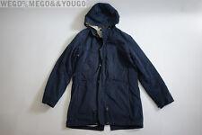 A.P.C. APC Hooded Blue Parka Fishtail Mens Jacket size Medium M