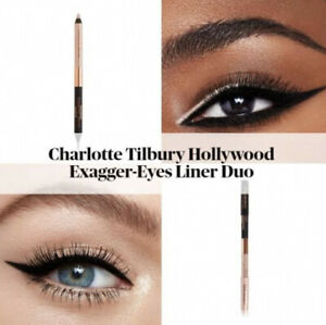 charlotte tilbury NEW! HOLLYWOOD EXAGGER-EYES LINER DUO Black and champagne-nude