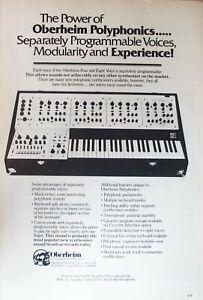 Oberheim Polyphonics Synthesizer 1979 Vintage Advert Print Poster