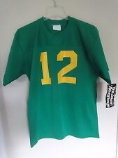 60/70's New Old Stock w/ Tag Green NCAA NFL Football Jersey Yellow Letters Men L