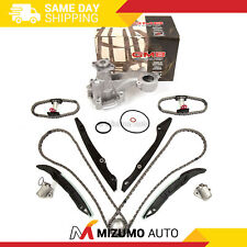 Timing Chain Kit Water Pump Fit 11-14 Ford F150 Mustang 5.0L 4-Bolt Pulley