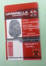 Umbrella Corp. ID Badge - Albert Wesker Resident Evil prop costume cosplay