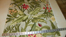 Green Butterfly Flower Cotton Print Upholstery Fabric 1 Yard R422