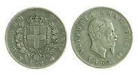 pcc1279_5) Regno Vittorio Emanuele II Lire 2 Stemma 1863 Na