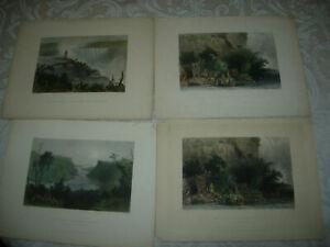 20 BARTLETT HISTORICAL STEEL ENGRAVINGS PRE 1850 NIAGRA FALLS & NY WATERWAYS