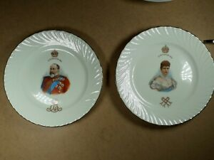 Pair of Doulton Burslem King Edward VII Coronation Plates