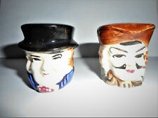 Vintage Colonial Men Salt And Pepper Shakers Hand Painted Japan