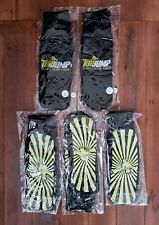 Five Pair (5) TOP JUMP Black/Yellow Grip TRAMPOLINE SOCKS Size ADULT LARGE New!