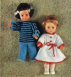 "Dolls knitting  pattern for  14"" doll.     Laminated copy. (V Doll 129)"