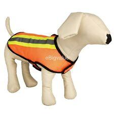 Orange Reflective Pet Puppy Dog Soft Mesh Harness Safety Walking Dog Vest S M L