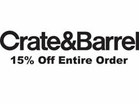 Crate and Barrel 15% off 1coupon -works on furniture - sent fast - exp. 05-31-20