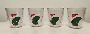 Tervis Tumbler Set of 4 12 Oz Golf Plastic Drinkware 1st 9th 18th 19th Hole