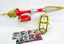 Power Rangers Megaforce Ultra Dragon Sword Gosei Morpher 7 Cards Weapon Lot