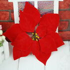 Christmas Decorations Simulation Flowers Red Plastic Flower Xmas Ornaments Gift
