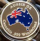 #Australian Cannabis Collectable Finished Silver .999 Wonderland Aussie Oz Coin
