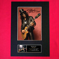 More details for slash signed reproduction autograph mounted photo print a4 95
