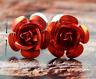 NEW! Red Rose Men's Cufflinks Cuff Links Mens Dress Wedding Cufflinks