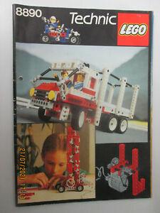 Lego Technik 8890 Ideenbuch Bauanleitung 51 Seiten 1987 DIN A 4 Rennwagen Kran