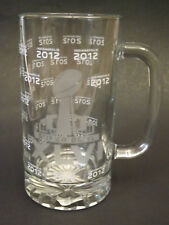 XLVI 2012 SUPERBOWL Satin Etched Commemorative Glass Stein/Tankard/Mug NWT