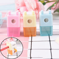 Mini 1 Hole Cartoon Pencil Sharpener For Student Kids Gifts Office Statione FD