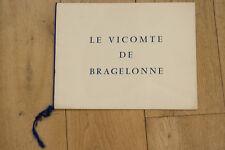 RARE DOSSIER DE PRESSE : LE VICOMTE DE BRAGELONNE - CERCHIO - MARCHAL, ADDAMS