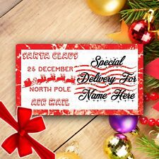 40 Personalised Christmas From Santa Party Bag Present Stickers Labels Gift Tags