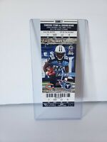 2012 Tennessee Vs Bears Full Ticket Brian Urlacher Last Carrer Interception TD