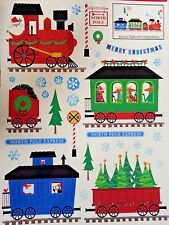 NEW Christmas NORTH POLE EXPRESS TRAIN Window Clings 31 pieces