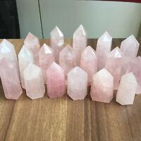 A LOT natural pink rose quartz obelisk crystal wand point healing G236