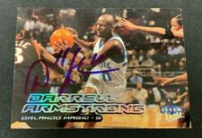 DARRELL ARMSTRONG SIGNED AUTOGRAPHED 1999 FLEER ULTRA BASKETBALL CARD #5 W/COA
