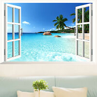 3D Window View Mural Wall Removable Wall Sticker Art Vinyl Decal Kids Room  Decor Part 93