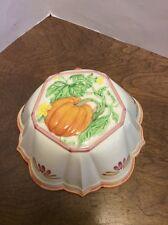 Ceramic Jello Mold Pumpkin Four Seasons Collection Marguerite de Freis 1990