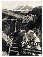 TRAVEL GSTAAD SWITZERLAND ALPINE RESORT GOAT WATERFALL ART PRINT POSTERBB7526B